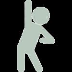 Green Person Raising Hand Icon